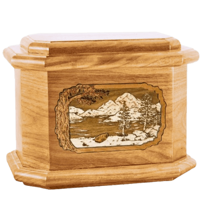 Lakeside Oak Octagon Cremation Urn