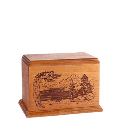 Lakeside Small Cherry Wood Urn