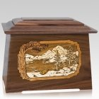 Lakeside Walnut Aristocrat Cremation Urn