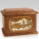 Lakeside Walnut Memory Chest Cremation Urn