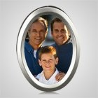 Large Silver Oval Picture Frame