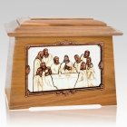 Last Supper Oak Aristocrat Cremation Urn