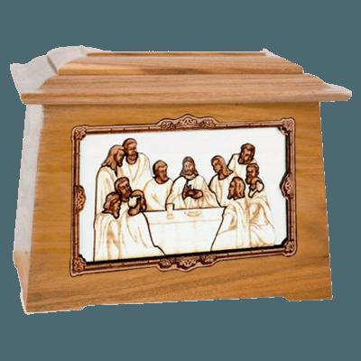 Last Supper Oak Aristocrat Cremation Urn