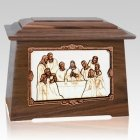 Last Supper Walnut Aristocrat Cremation Urn