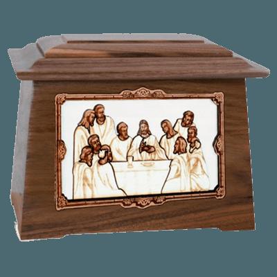 Last Supper Walnut Aristocrat Cremation Urn