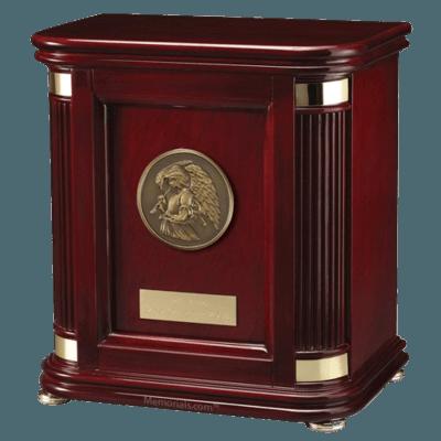 Laudation Angel Wood Cremation Urn