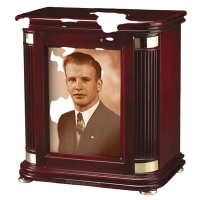 Laudation Photo Wood Cremation Urn