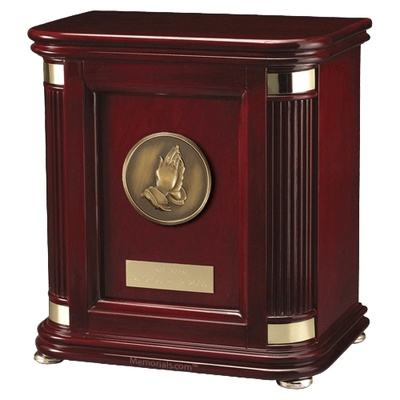 Laudation Prayer Wood Cremation Urn