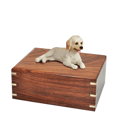 Laying Labradoodle Medium Doggy Urn
