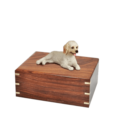 Laying Labradoodle Small Doggy Urn