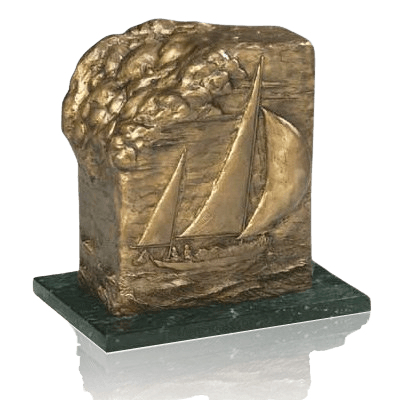 Sailing Bronze Cremation Urn