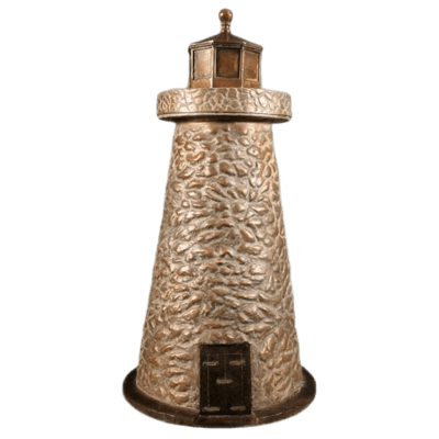 Lighthouse Bronze Cremation Urn