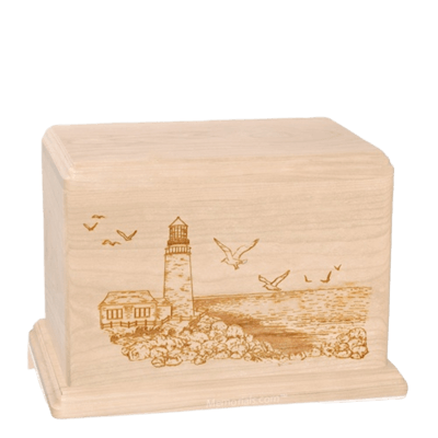 Lighthouse Individual Maple Wood Urn