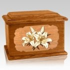 Lily Mahogany Memory Chest Cremation Urn