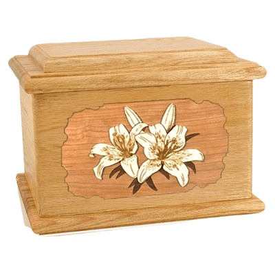 Lily Oak Memory Chest Cremation Urn