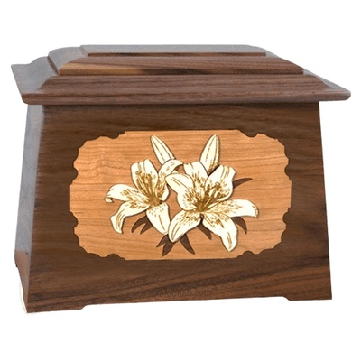 Lily Walnut Aristocrat Cremation Urn