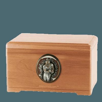 Linebacker Light Cherry Cremation Urn