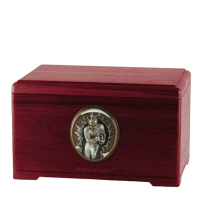Linebacker Rosewood Cremation Urn