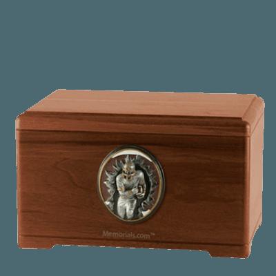 Linebacker Walnut Cremation Urn