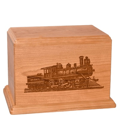 Locomotive Companion Cherry Wood Urn