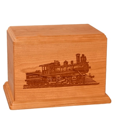 Locomotive Companion Mahogany Wood Urn