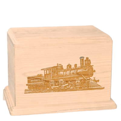 Locomotive Companion Maple Wood Urn