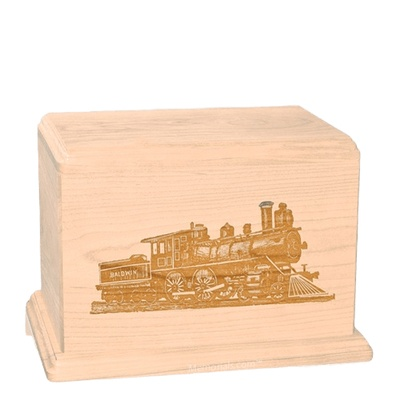 Locomotive Individual Maple Wood Urn
