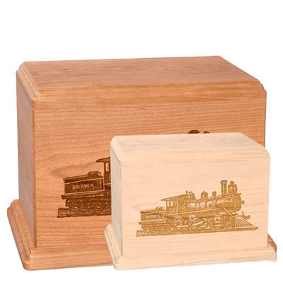 Locomotive Wood Urns