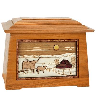 Longhorn Mahogany Aristocrat Cremation Urn