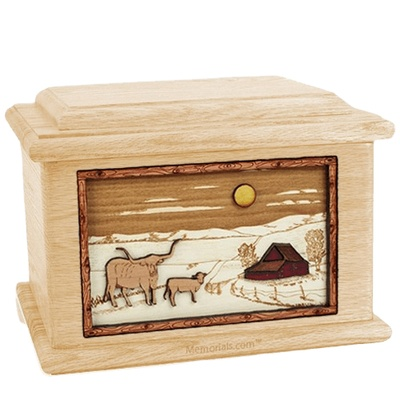 Longhorn Maple Memory Chest Cremation Urn