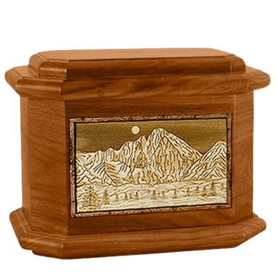 Longs Peak Mahogany Octagon Cremation Urn