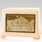 Longs Peak Maple Companion Urn for Two