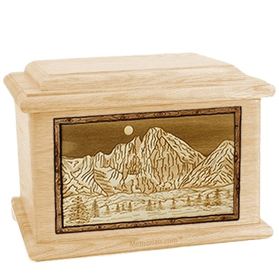 Longs Peak Maple Memory Chest Cremation Urn