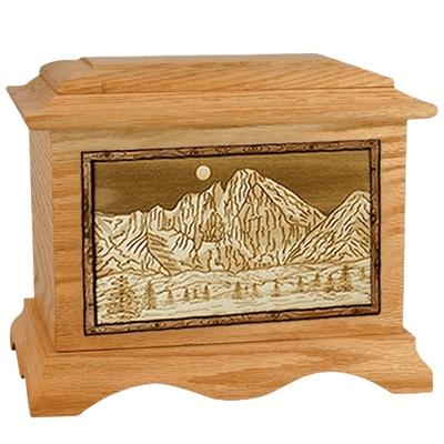 Longs Peak Oak Cremation Urn