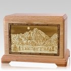 Longs Peak Oak Hampton Cremation Urn