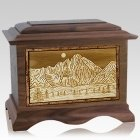 Longs Peak Walnut Cremation Urn