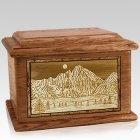 Longs Peak Walnut Memory Chest Cremation Urn