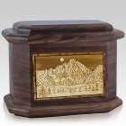 Longs Peak Walnut Octagon Cremation Urn