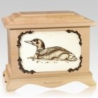 Loon Maple Cremation Urn