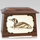 Loon Walnut Aristocrat Cremation Urn
