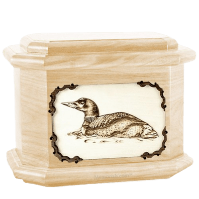 Loon Maple Octagon Cremation Urn