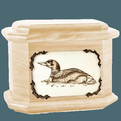 Loon Maple Octagon Cremation Urn