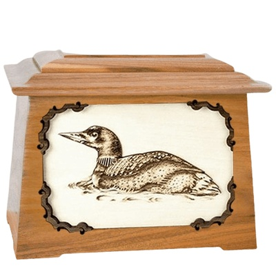 Loon Oak Aristocrat Cremation Urn