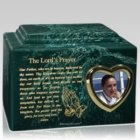 Lords Prayer Photo Cremation Urn