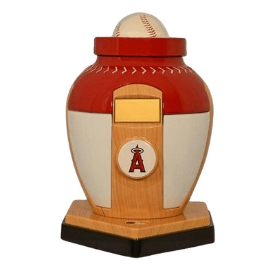 Los Angeles Angels Baseball Cremation Urn