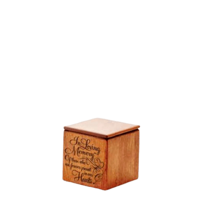 Loving Memory Wood Keepsake Urn