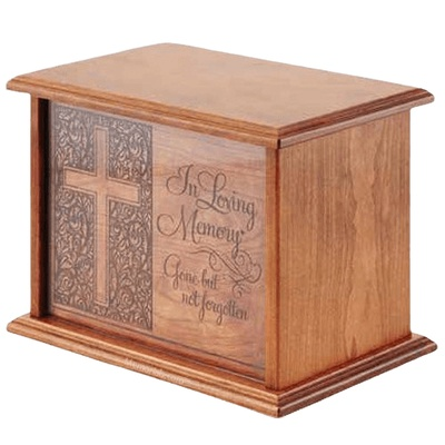 Loving Memory Wood Urn