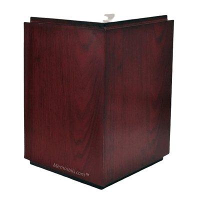 Lush Wood Cremation Urn