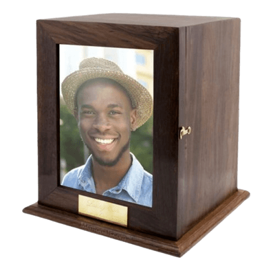 Luxurious Wood Cremation Urn