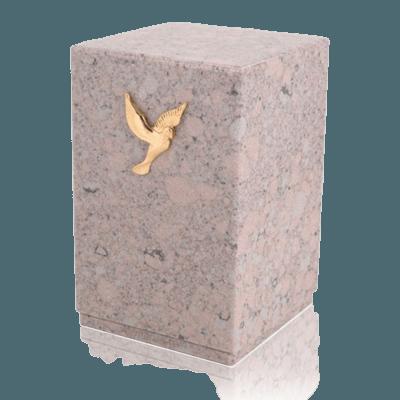 Memoriam Coral Marble Cremation Urn